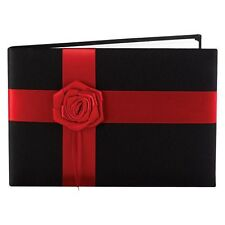Midnight Rose Wedding Collection Guest Book - Black