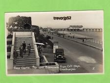 Ross Castle Pier Motor Car Cleethorpes unused RP pc Empire Ref A974