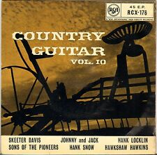 "HAWKSHAW HAWKINS + 5 ""COUNTRY GUITAR VOL. 10"" COUNTRY ROCK EP 1960 RCA 176"