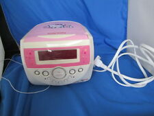 Hello Kitty AM-FM Stereo CD Player Digital Dual Alarm Clock Radio W/ Instr & CD