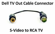 Original Dell S-Video to RCA TV Out Cable Lapetop Notebook Inspiron Latitude PC