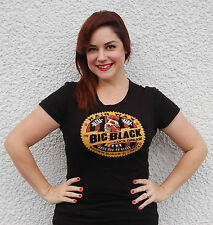 Official COCK GREASE XXXX Big Black Hair Wax Black LADIES Cut T-shirt Rockabilly