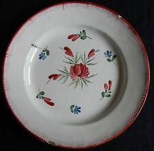 D6) Assiette ancienne faïence de l'EST Jolies petites fleurs (Les Islettes...)