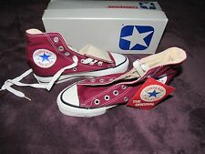 NIB VINTAGE CONVERSE SILVER BOX MAROON ALL STAR CHUCK TAYLOR 2.5 MADE IN USA