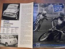 ILLUSTRIERTER MOTORSPORT 10 - 18.5. 1965 * Speedway Meißen Saporoshez 965 A