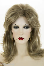 Light Ash Brown  Champagne Blonde Frost Blonde Long Medium Wavy Straight Wigs