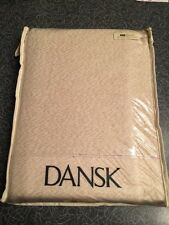 Dansk Lisbeth 60 X 84 Metallic Cotton Tablecloth Copper MCM Mid Century Modern
