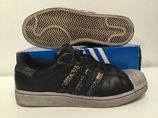 ADIDAS Super Stars Shell Toe Black/gold/Silver Size 8.5 US
