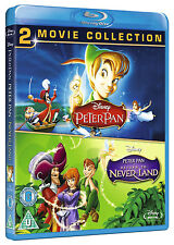 PETER PAN 1 & 2 [Blu-ray Combo Pack] Classic Disney Animated Movie Set Neverland