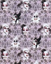 Fat Quarter Disney Female Villain Characters Toss 100% Cotton Quilting Fabric