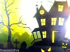 "HALLOWEEN PICTURE CANVAS LED BATTERY OPERATED 11.8"" X 11.8"" HOME DECOR SEALED!"