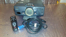 Epson PowerLite 5550c LCD Projector 649LAMP HR. W/ Remote Control/VGA/Power Cord