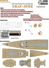 Hunter 1/350 W35019 Wood deck German Admiral Graf Spee for Trumpeter