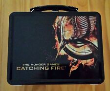 Hunger Games Catching Fire Metal Lunch Box Set Jennifer Lawrence - FREE SHIPPING
