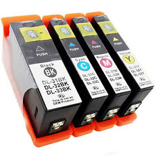 4Pack Compatible For Dell 31 32 33 34 Ink Cartridges With Chip Injet V725w V525w