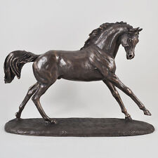 Race Horse Bronze Sculpture Farm Jumping NEW Harriet Glen Equine H26cm 01444