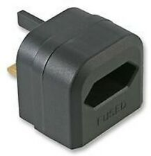 2 Pin Euro to UK Mains Power Converter BCA Plug 3A Black New