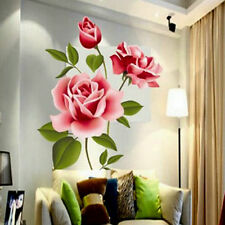 Rose Flower Wall Stickers Removable Decal Home Decor DIY Art Decoration
