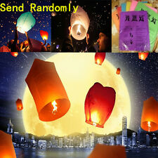new 5pcs Wishing Lantern Chinese Paper Sky Floating Wedding Flying Party Lamp