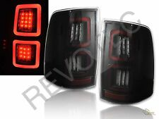 13-16 Ram 1500 2500 3500 Laramie Limited Pickup Black Smoke Full LED Tail Lights
