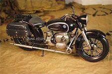 Handmade BMW R60-2 Gendarmerie-Black Motorcycle 1:12 Antique Style Metal Model