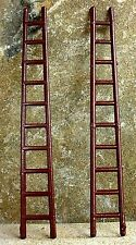 "Vintage ""Wooden"" Fire Ladders (2) 1/24 Scale G Scale Diorama Accessory Items"