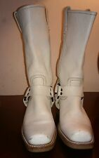 Womens FRYE BOOTS LEATHER IVORY 7 M