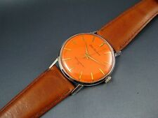 Vintage Seiko Sportsman Diashock Stainless Steel 17J Mens Watch Rare Orange Dial
