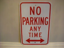 NO PARKING ANY TIME HEAVY SIGN GARAGE SHOP HARLEY MUSTANG CUDA METS YANKEES OIL