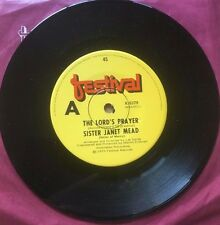 45 Sister Janet Mead The Lord's Prayer b/w Brother Sun Sister Moon Festival 1973