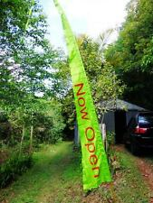 Large Now Open Bali Style Flag 5 mtr tall complete with custom fibreglass pole.