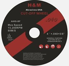 "25 4""x.040""x5/8"" Stainless Steel & Metal Cut-off Wheels Cutting Disc"