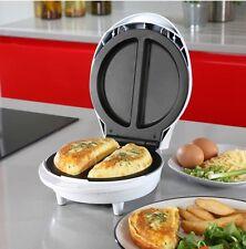 Electric Omelette Maker Non Stick Egg Breakfast Kitchen Cheese Ham Omlet UK New!