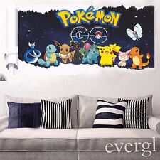 Anime Pokemon Go Game Scroll Wall Sticker Decals for Kid Child Room Decor