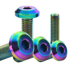 6Pcs MCTi Colorful M8X25 Aerospace Titanium Ti Allen Hexagon Bike Bolts Screw