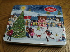 "Whitman's Sampler Town Center Christmas Hinged Tin  10"" X 8-1/4"" X 1-1/2"""