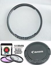 UV PL FLD Filter + Lens Adapter  Ring + Lens Cap For Canon SX30 IS SX30IS Camera