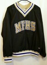 MFHS Marble Falls High School Cheer Warm Up Pull Over Jacket Sz SP Gold & Purple