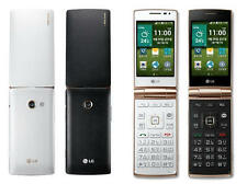 LG Wine Smart F480 BLACK Flip Phone With Android v4.4 KitKat 1.2GHz Clamshell