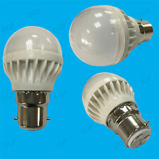 2x 5W B22 Daylight White 6500K BC Mini Globe Golf Ball LED Light Bulb Lamp 400lm