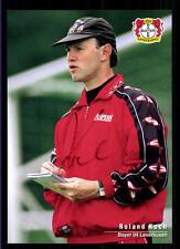 Roland KOch Autogrammkarte Bayer Leverkusen 1996-97 Original Sign+A 119024