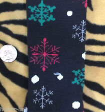 Funky Novelty Multi-Color BLACK SNOWFLAKES KNEE SOCKS Lolita Holiday Stockings
