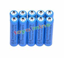 10x AAA 1800mAh 1.2V Ni-MH Rechargeable battery 3A Blue Cell for MP3 RC Toys