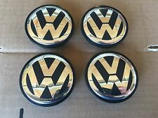 NEW SET OF 4 VOLKSWAGEN 70MM  2004-2010 VW TOUAREG CHROME CENTER WHEEL HUB CAPS