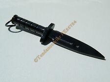Pendentif Poignard Couteau Dague Arme Noir Black Pur Acier Inoxydable + Chaine