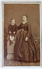 CDV PHOTO SECOND EMPIRE MÈRE et FILS L111
