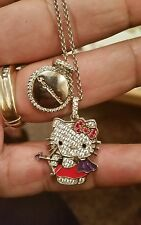 HELLO KITTY ZODIAC SAGITTARIUS ENAMEL STERLING SILVER NECKLACE $350