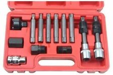13 Pc Alternator Freewheel Pulley Removal Socket Bit Set Garage Service Tool Kit