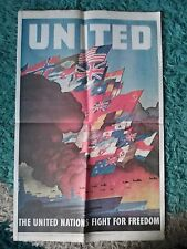 WW2 USA  PROPAGANDA POSTER UNITED..THE UNITED NATIONS FIGHT FOR FREEDOM.(P29)