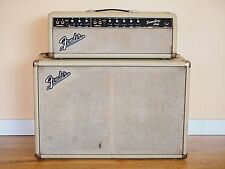 1963 Fender Tremolux Blackface Blonde Vintage Piggyback Tube Amplifier Pre-CBS